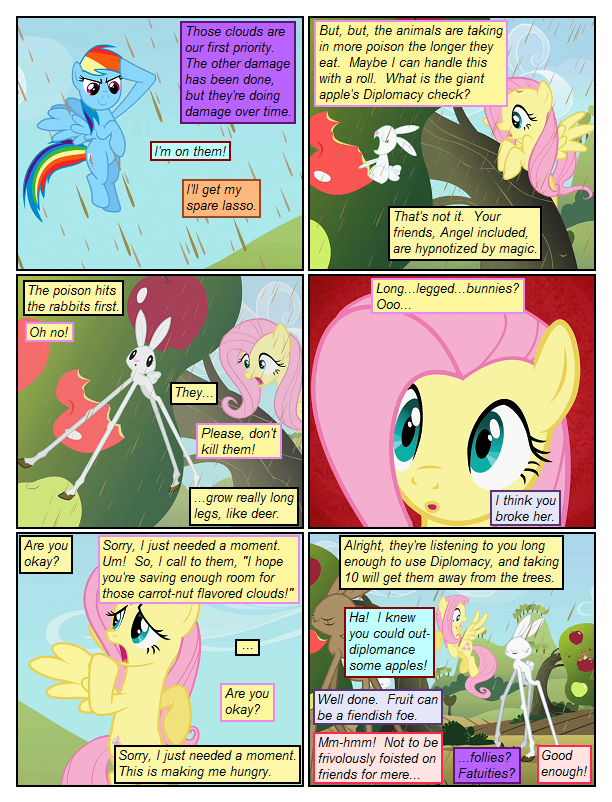 Fluttershy Beats Some Fruit